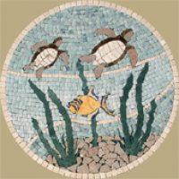 Acquatic Round Mosaic